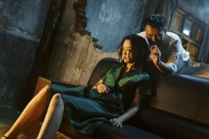 L'actriu Tang Wei, acompanyada a la primera part de Huang Lee