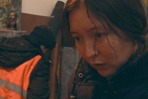El rostre de l'actriu kazakha Samal Yeslyamova, en la seva interpretació angoixant d'Ayka