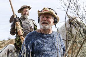 El director Terry Guilliam, davant del seu últim Quixot Jonhatan Pryce, al rodatge de El hombre que mató a Don Quijote
