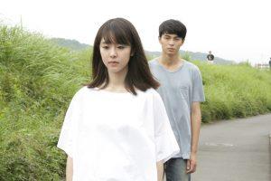 L'actriu protagonista Erika Karata, amb l'actor que es desdobla Masahiro Higashide, a Asako