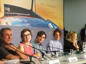 VICENÇ BATALLA | Sergi López, Nicoleta Braschi, Adriano Tardiolo, la director Alice Rohrwacher, i Alba Rohrwacher a la roda de premsa de Lazzaro felice